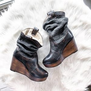 Bed Stu Bruges Sweater Sock Boot